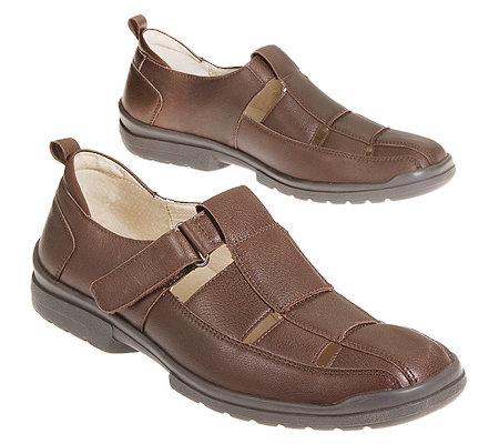 Geschlossen Sandale Herren Leder Vitaform Klettverschluss