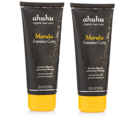 ahuhu organic hair care Marula Intensive Care Haarpflege 2x 200ml
