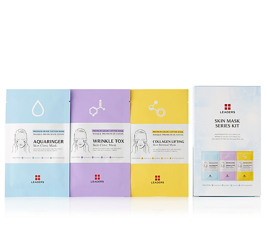 LEADERS Masken-Set Collagen, Feuchtigkeit & Anti-Wrinkle, 6tlg.