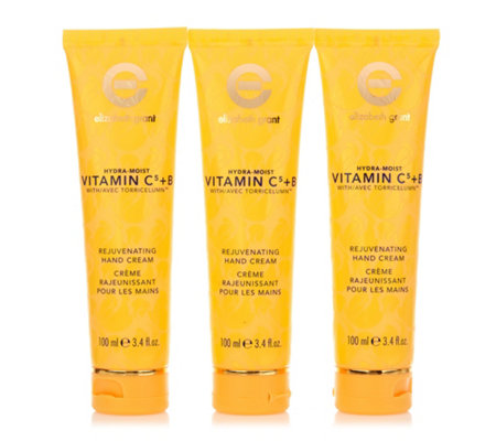 ELIZABETH GRANT Hydra Moist Vitamin C5 & B Hand Cream 3x 100ml