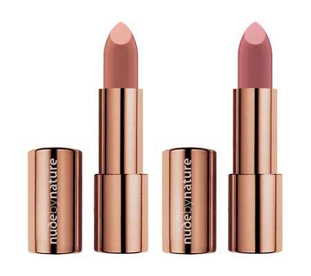 NUDE BY NATURE Moisture Shine Lipstick 2x 4g