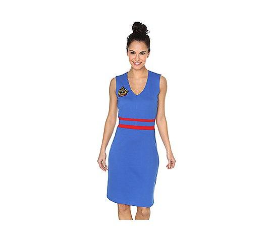 pompoos design by harald glockler kleid armellos v ausschnitt maritime optik qvc de