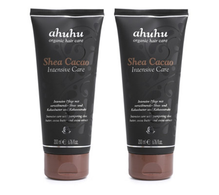 ahuhu organic hair care Intensive Care Shea Cacao 2x 200ml