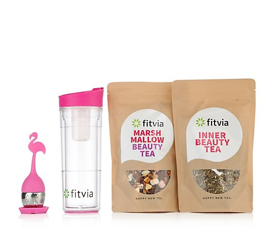 FITVIA Beauty-Queen-Set mit Inner-Beauty- Tee, Marshmallow- Beauty-Tee & Tee-Ei