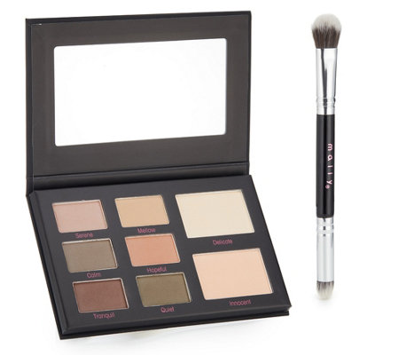 MALLY BEAUTY MUTED MUSE EYESHADOW Palette Velvet mit Pinsel 15g