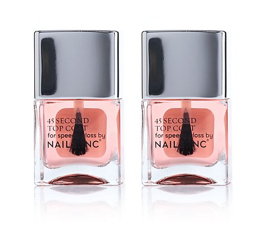 NAILS.INC® Nagellack-Duo Retinol 45 Sekunden Topcoat 2x 14ml