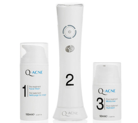 RIO BEAUTY Q-Acne Clearing System mit blauem Licht 3tlg. Set
