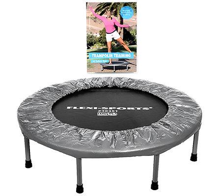 Qvc Sportgeräte flexi-sports trampolin faltbar max. 100kg inkl. dvd - page 1 — qvc.de
