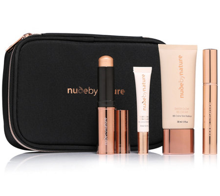 NUDE BY NATURE First Light Make-up Kit für ein strahlenden Teint