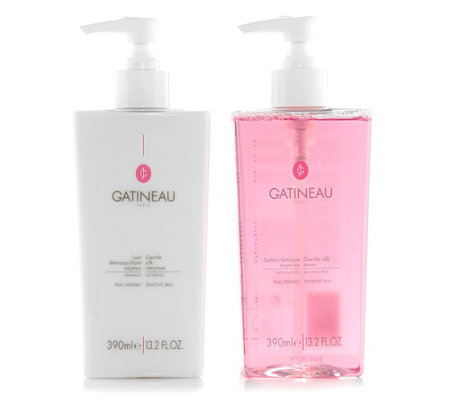 GATINEAU Gentle Silk Cleanser & Toner 2x 390ml