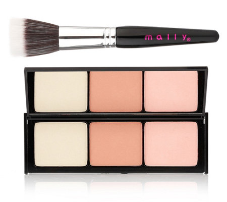 MALLY BEAUTY Get Cheeky Blush Trio 12g inklusive Pinsel im Set