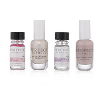 PERFECT FORMULA Topcoat 5ml, Pink Gel Coat 5ml & 2 Farbgelcoats je 8ml - 293187