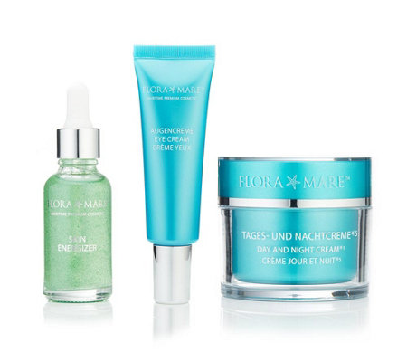 FLORA MARE 24h Creme 100ml Augencreme 30ml Skin Energizer 30ml 3tlg. Set