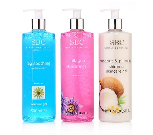 SBC Skincare Gel-Set Collagen, Kokosnuss & Leg Soothing 3x 500ml