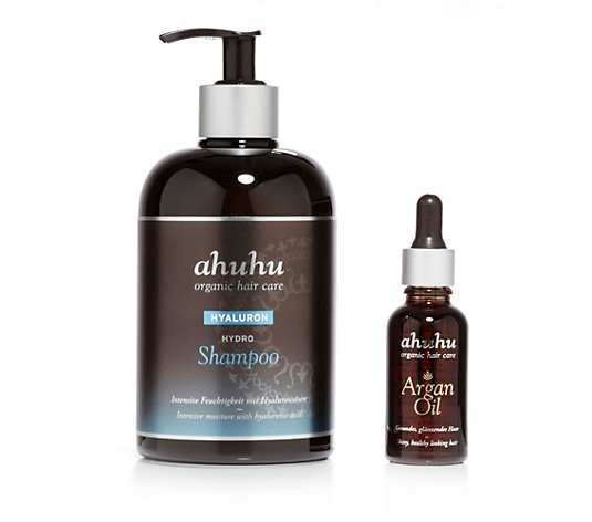 ahuhu organic hair care Hydro Shampoo 500ml & Argan Öl 30ml, 2tlg.
