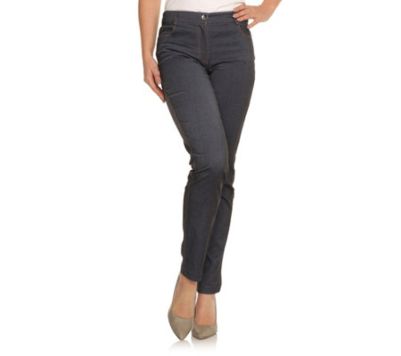 VIA MILANO Hose Valetta Jeans-Optik 4-Pocket-Style