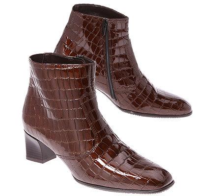 Stiefel aus Leder mit Krokoprägung Frau, Weiß   TWINSET Milano