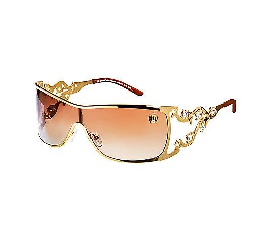 Pompoos Design By Harald Glockler Sonnenbrille Metallgestell Swarovski Steine Qvc De
