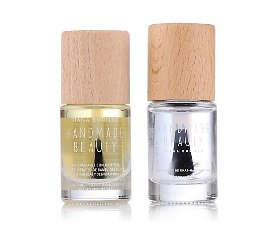 HANDMADE BEAUTY Aloe Vera Base Coat 10ml & Fast Dry Top Coat 11ml
