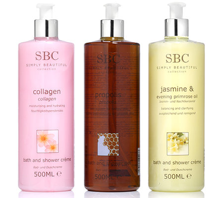SBC Bade- & Dusch-Set Collagen, Jasmin & Propolis 3x 500ml