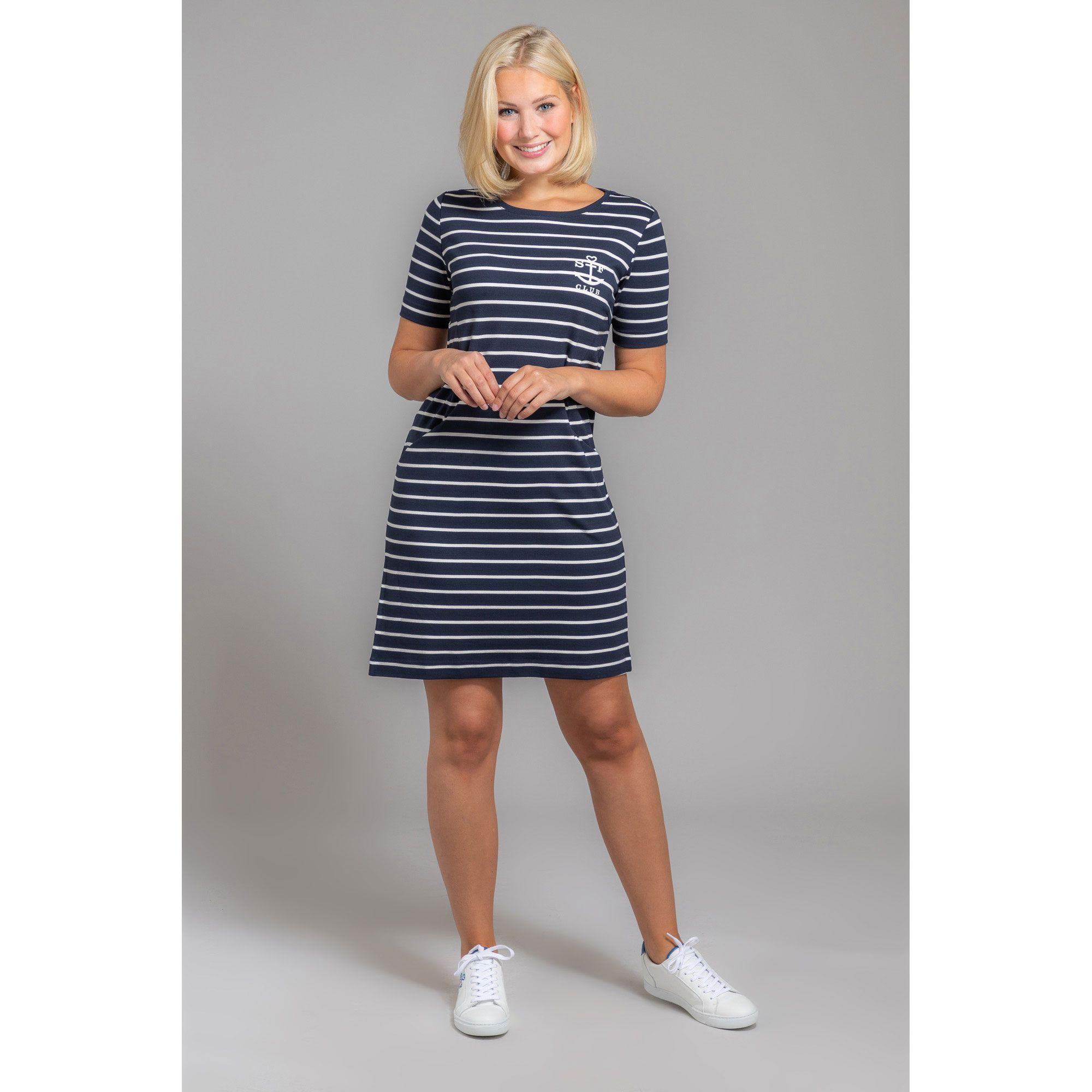 strandfein jerseykleid, 1/2-arm oberschenkel- umspielend, ca. 92cm  elastisch - qvc.de