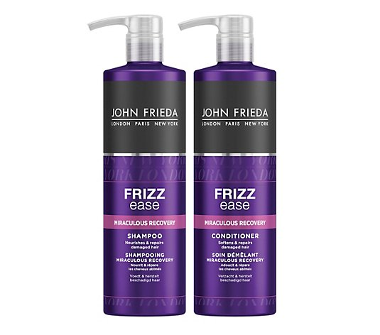 JOHN FRIEDA Frizz Ease Shampoo 500ml Conditioner 500ml Sondergrößen