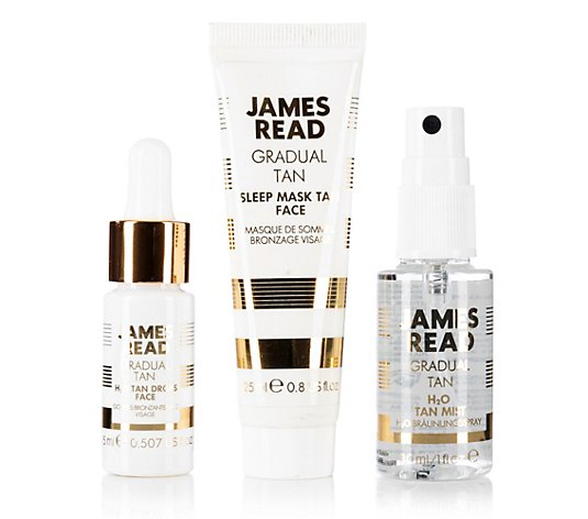 JAMES READ Probier-Set Sleep Mask Face 25ml H2O Tan Mist 30ml H2O Tan Drops 15ml