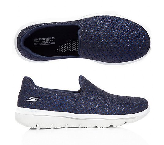 SKECHERS Damen-Slipper Gowalk Evolution Glitzer-Optik GoGa Mat-Tech