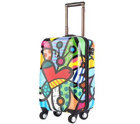 HEYS USA Britto Collection Trolley, 4 Rollen Polycarbonat ca. 36x56x23cm