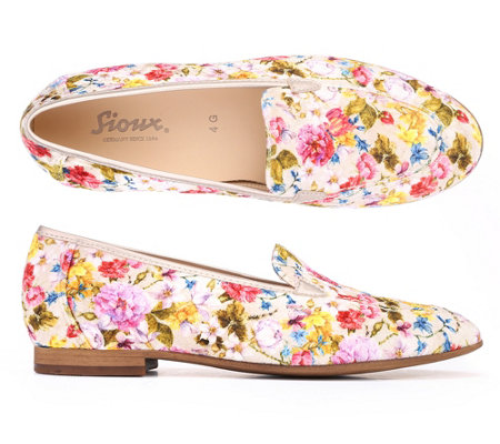 SIOUX® Damenslipper Godiwa Samt Blumen-Optik