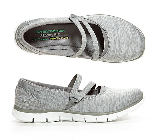 SKECHERS Mary-Jane EZ Flex Renew Mellange Optik Memory Foam