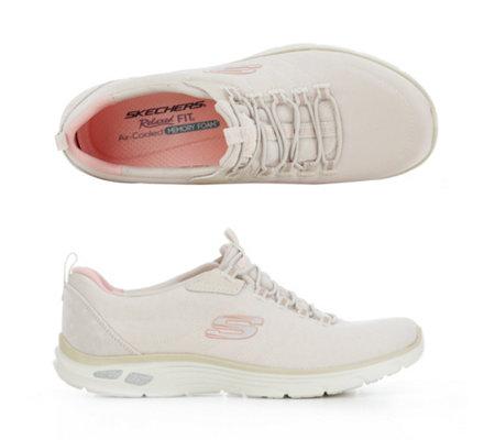 Beige Sneaker Schuhe Damen Skechers Sneakers Leder Textil