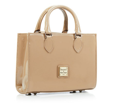 DOONEY & BOURKE Janine Mini-Henkeltasche echt Leder Lack-Optik