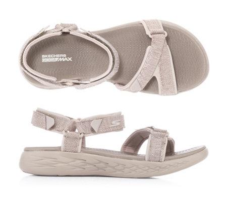 SKECHERS Damen-Sandale on-the-go 600 Klettverschluss GoGa Max Tecnologie —  QVC.de