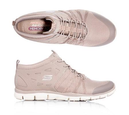 SKECHERS Damen Sneaker Bungeeschnürung Materialmix Memory Foam —