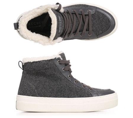 low priced ae167 87f67 SKECHERS Damen-Hi-Top-Sneaker Alba Woll-Optik Memory Foam — QVC.de
