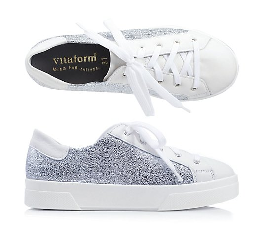 VITAFORM Damen-Sneaker Softnappa mit Metallcrashstretch Shock-Absorber