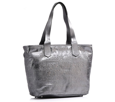 THOM by Thomas Rath Shopper echt Leder Metallic-Farben 4 Bodenstutzen