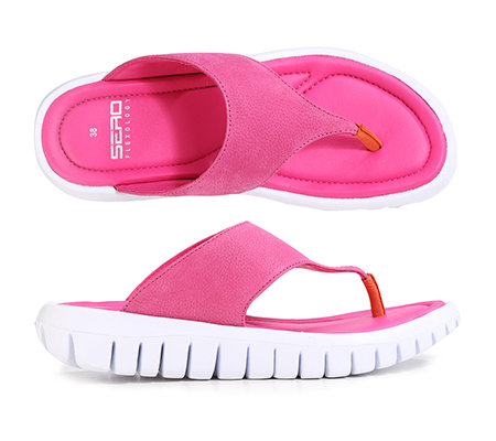 on sale b70dd bc877 SERO Schuhe Damenpantolette Nubukleder Zehensteg G-Weite — QVC.de