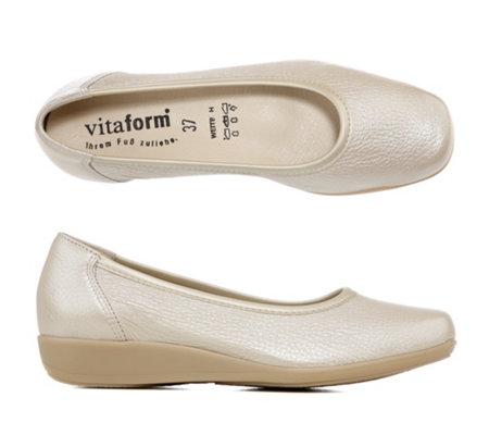 d94faaddfe4952 VITAFORM Ballerina Ital. Hirschleder Metallic Austauschfußbett ...