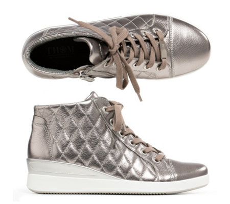 THOM by Thomas Rath Damen-Sneaker Fabrizio echt Leder Stepp-Optik