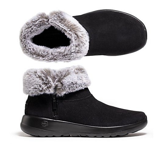 SKECHERS Damen-Winterbootie On-the-GO gefüttert GoGa Mat Technologie