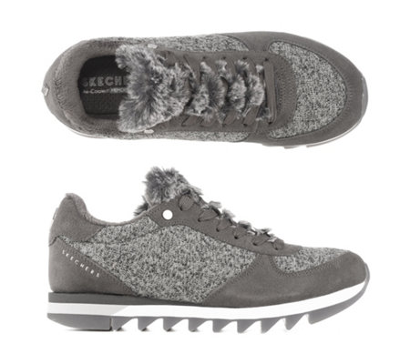 timeless design 39ec6 3131a SKECHERS Damen-Sneaker Venus - QVC Exklusiv Strick-Optik Memory Foam —  QVC.de