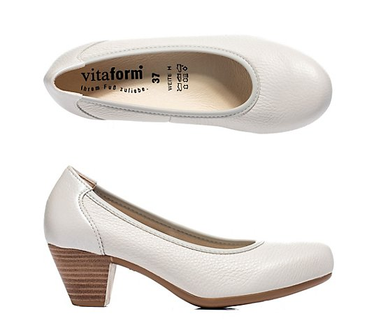 VITAFORM Pumps Hirschleder Ferse in Metallic Luftpolsterfußbett