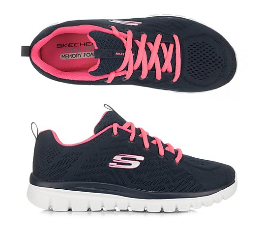 SKECHERS Damen-Sneaker Graceful Mesh Memory Foam