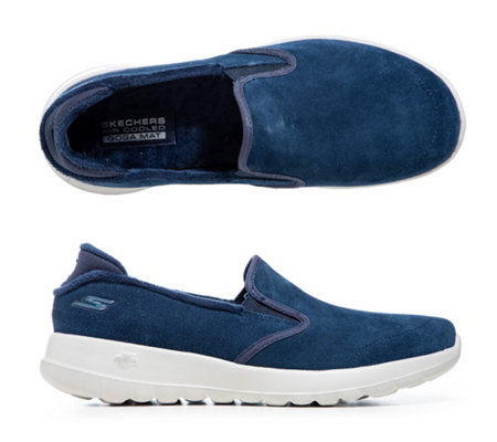 SKECHERS Damen-Slipper Go Walk Joy Veloursleder GoGa Mat Technologie