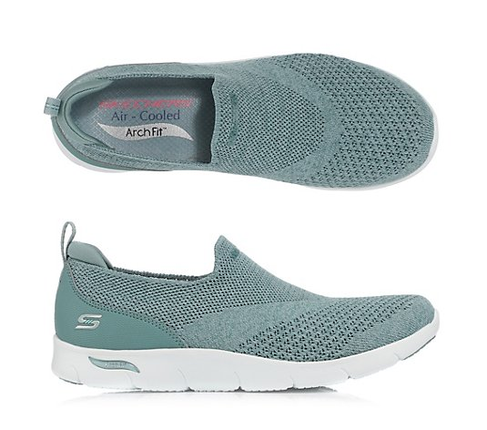 SKECHERS Damen-Slipper Arch Fit Refine Mesh Melange