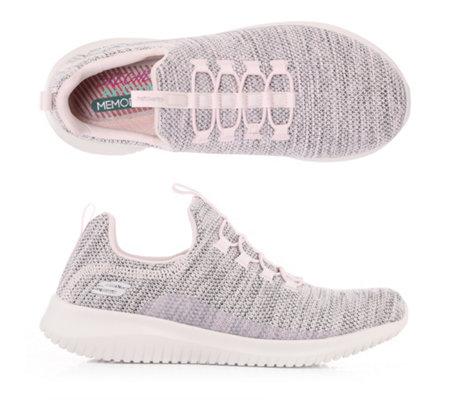 SKECHERS Damen-Sneaker ULTRA FLEX Textil Memory Foam — QVC.de