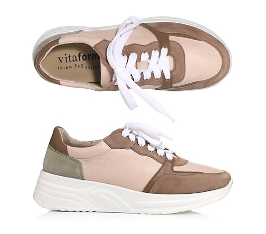 VITAFORM Damen-Sneaker Ledermix Multicolor Shock-Absorber