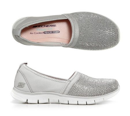 SKECHERS Damen-Slipper Ez Flex Renew Strasssteine Memory Foam